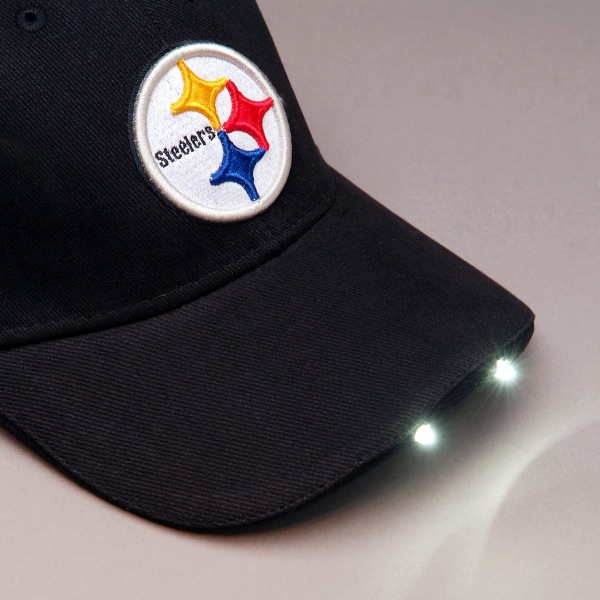 bef38a9371d Pittsburgh Steelers LED Flashlight Adjustable Hat